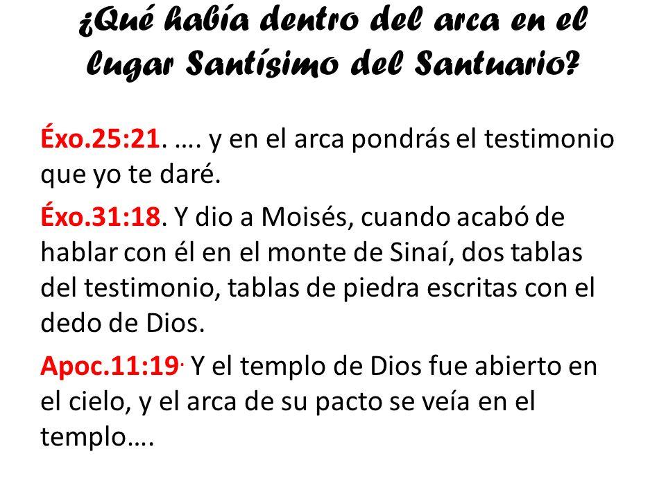 ¿Qué había dentro del arca en el lugar Santísimo del Santuario