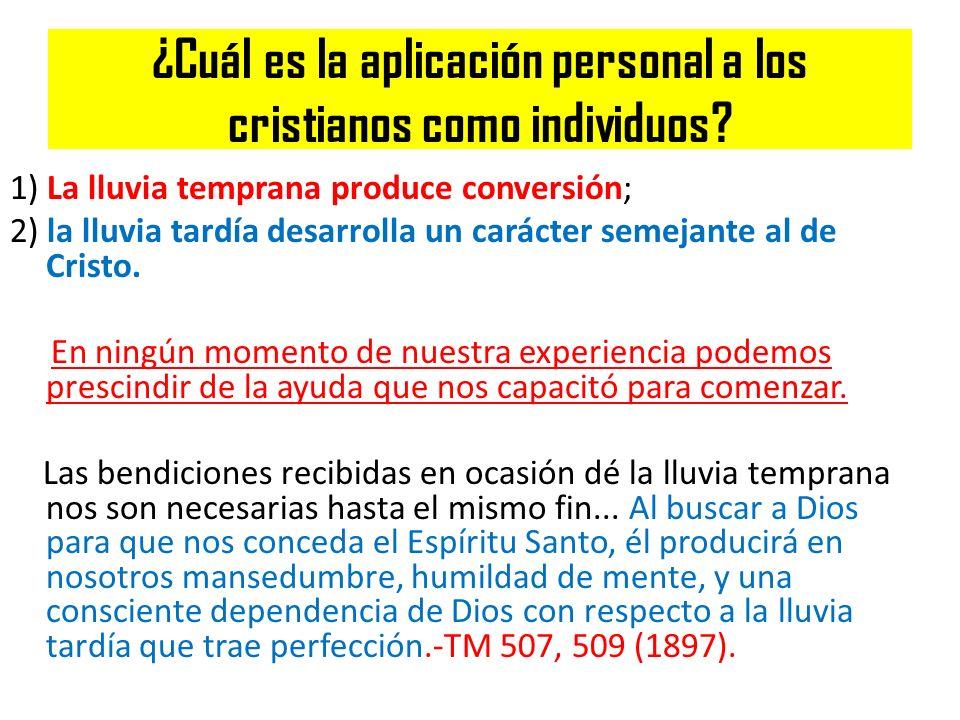 ¿Cuál es la aplicación personal a los cristianos como individuos