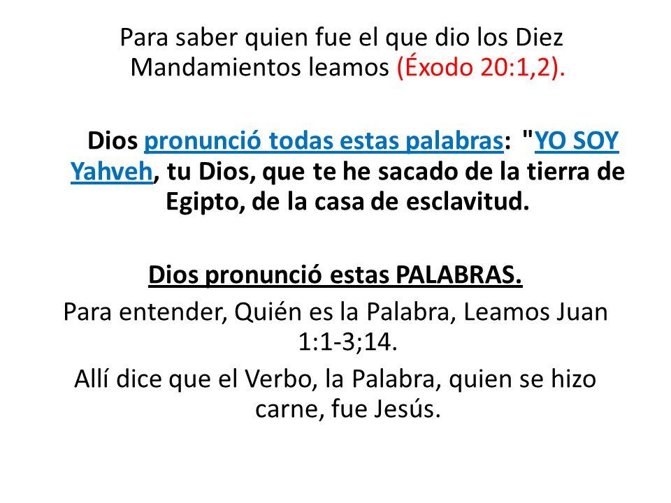 Dios pronunció estas PALABRAS.
