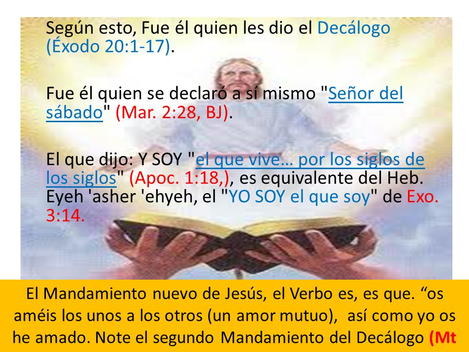 Según esto, Fue él quien les dio el Decálogo (Éxodo 20:1-17).