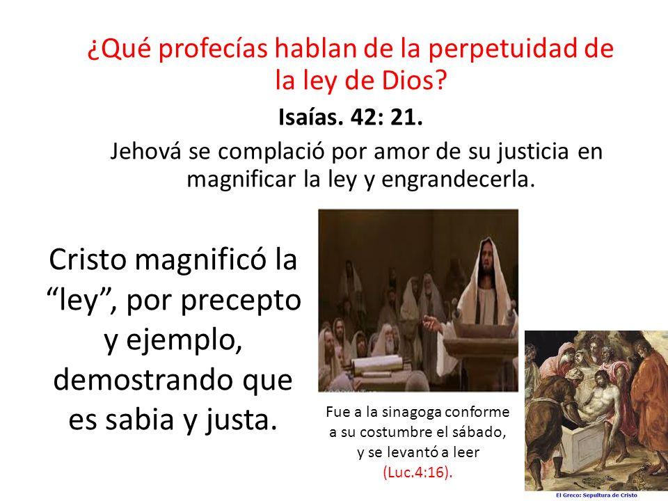 ¿Qué profecías hablan de la perpetuidad de la ley de Dios