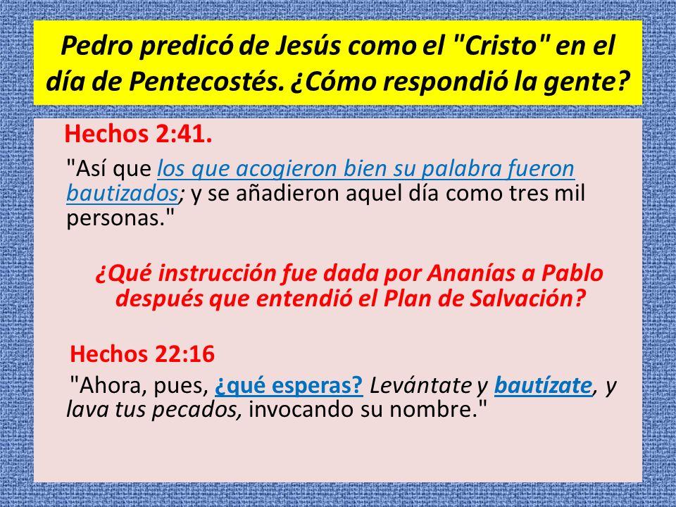 Pedro predicó de Jesús como el Cristo en el día de Pentecostés