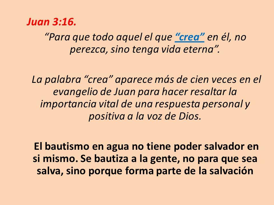 Juan 3:16. Para que todo aquel el que crea en él, no perezca, sino tenga vida eterna .