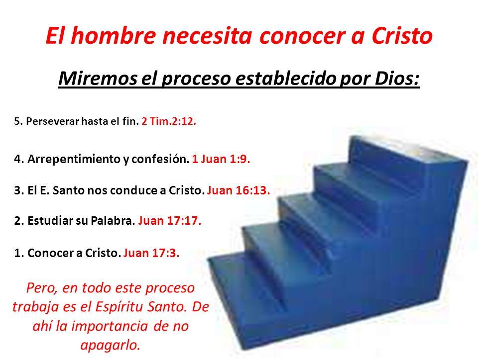 El hombre necesita conocer a Cristo