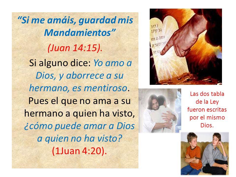 Las dos tabla de la Ley fueron escritas por el mismo Dios.