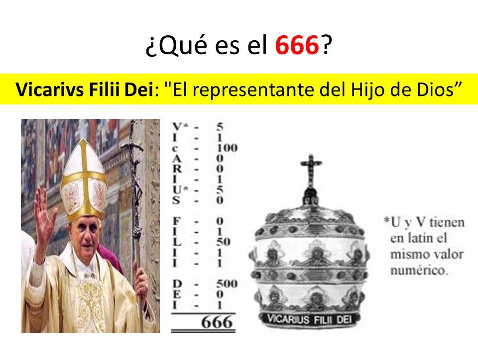 Vicarivs Filii Dei: El representante del Hijo de Dios