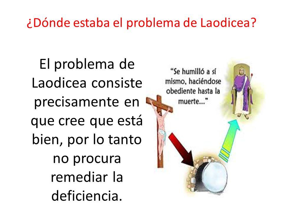 ¿Dónde estaba el problema de Laodicea