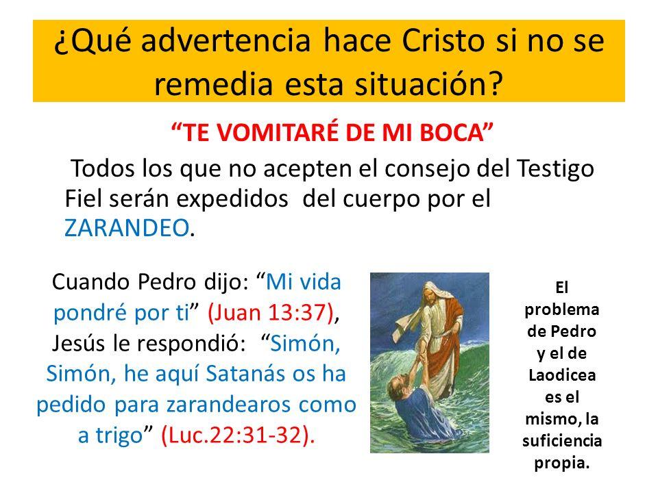 ¿Qué advertencia hace Cristo si no se remedia esta situación