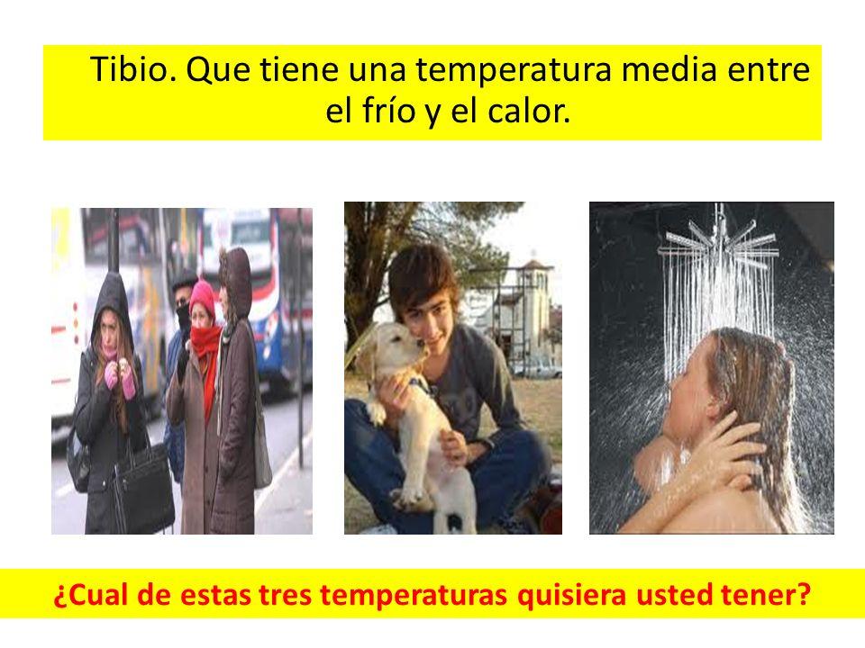 ¿Cual de estas tres temperaturas quisiera usted tener