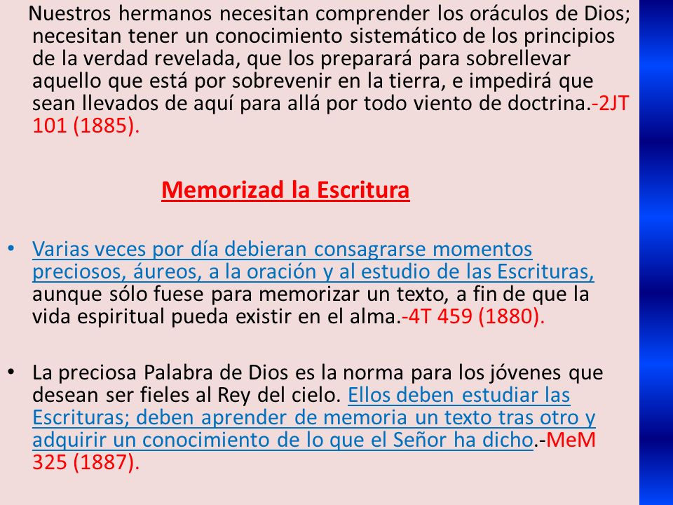 Memorizad la Escritura