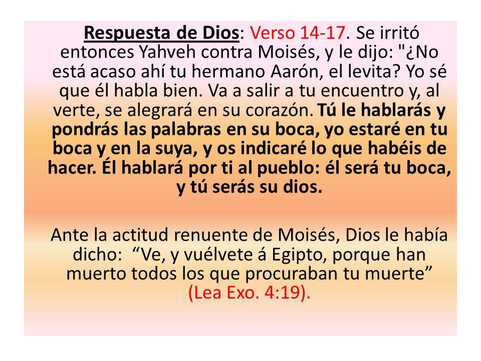 Respuesta de Dios: Verso 14-17