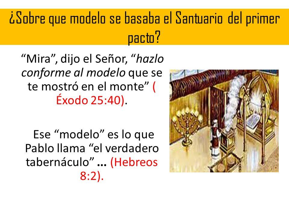 ¿Sobre que modelo se basaba el Santuario del primer pacto