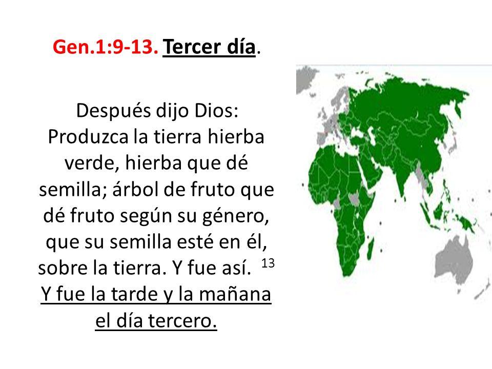 Gen.1:9-13. Tercer día.