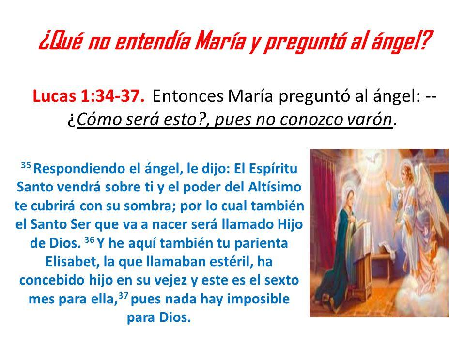 ¿Qué no entendía María y preguntó al ángel