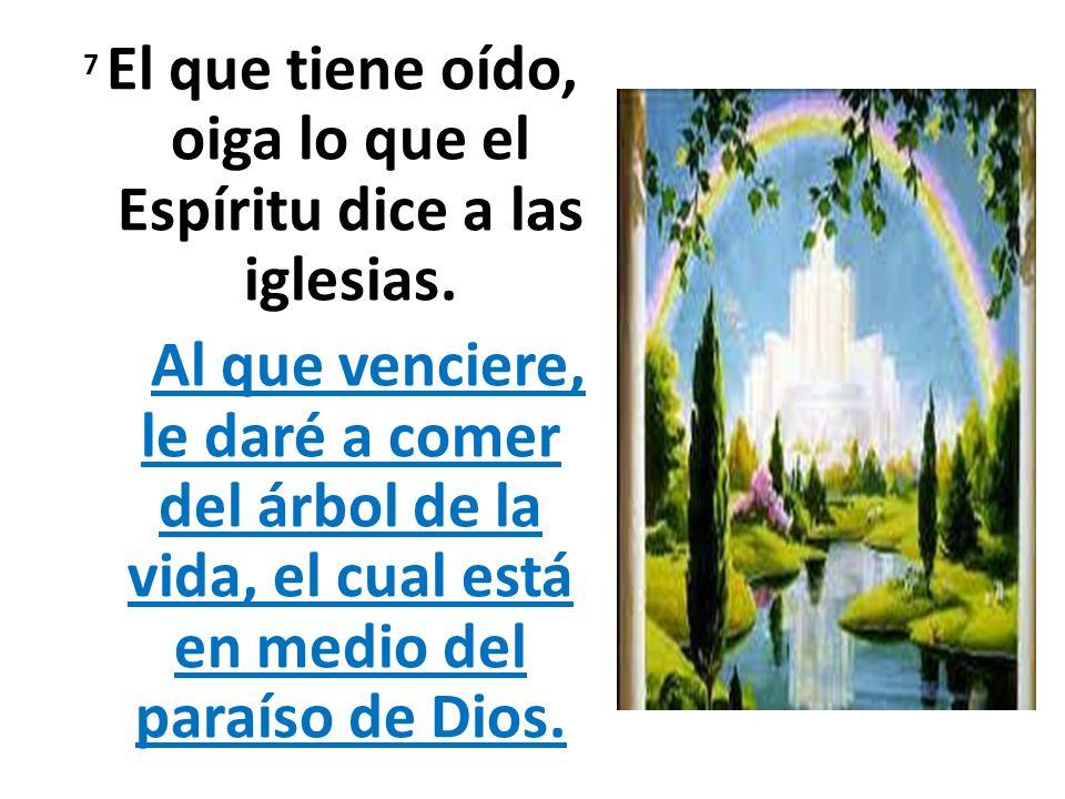 7 El que tiene oído, oiga lo que el Espíritu dice a las iglesias.