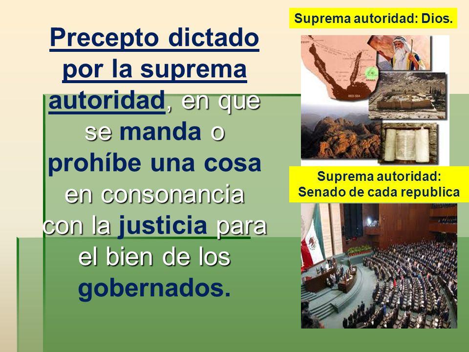 Suprema autoridad: Senado de cada republica
