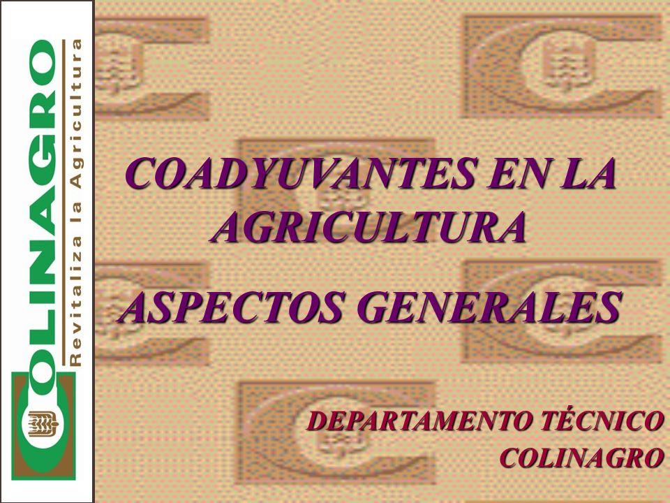 COADYUVANTES EN LA AGRICULTURA