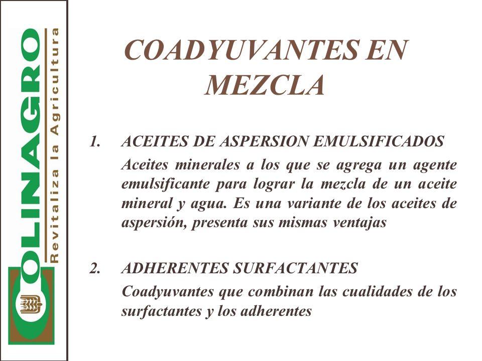 COADYUVANTES EN MEZCLA