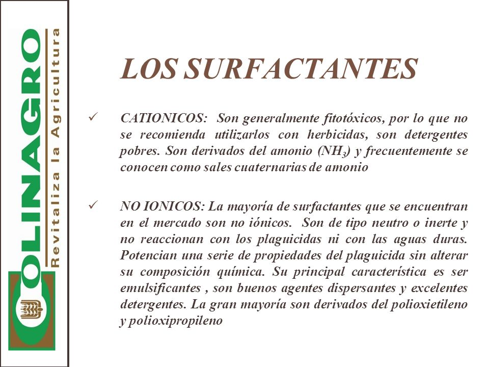 LOS SURFACTANTES