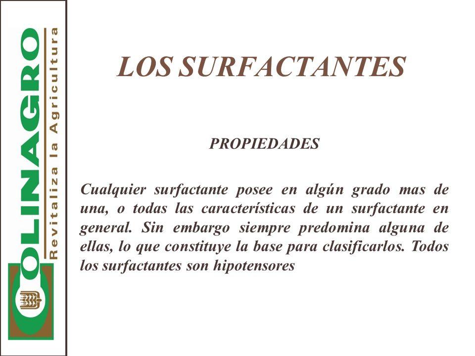 LOS SURFACTANTES PROPIEDADES