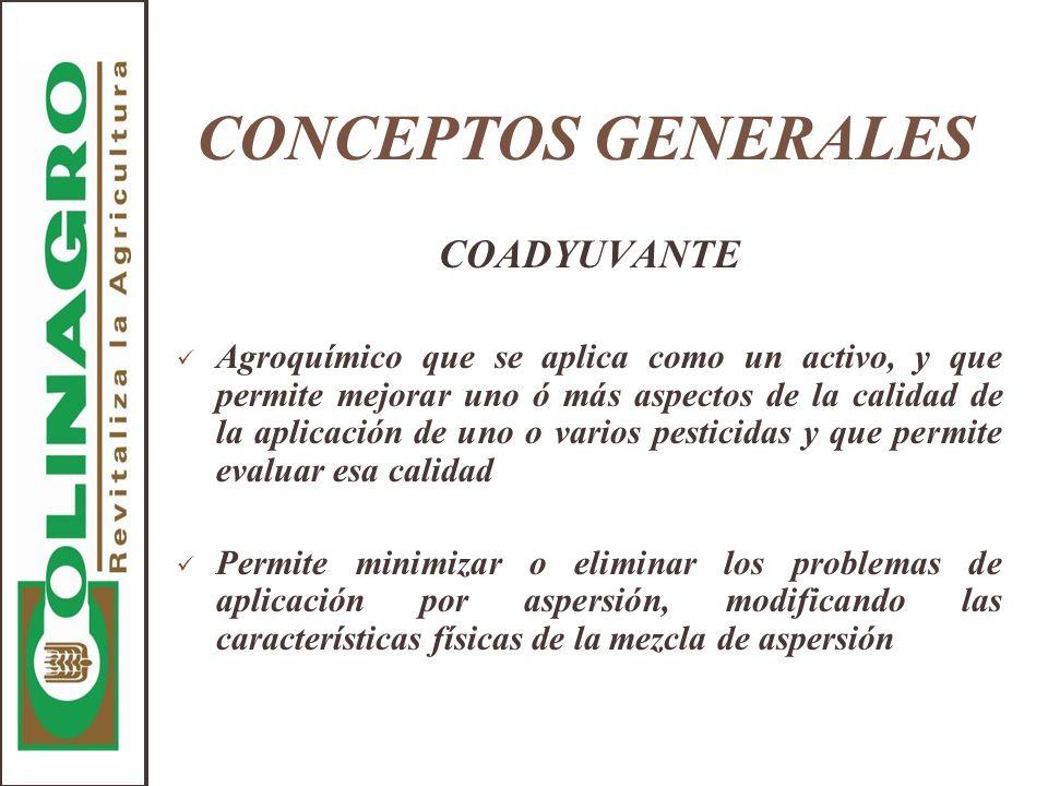 CONCEPTOS GENERALES COADYUVANTE