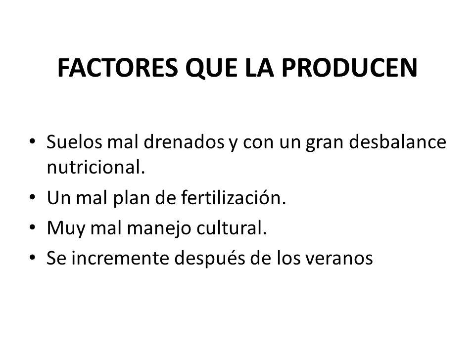 FACTORES QUE LA PRODUCEN