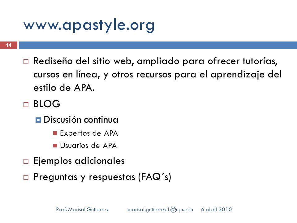 www.apastyle.org 14.