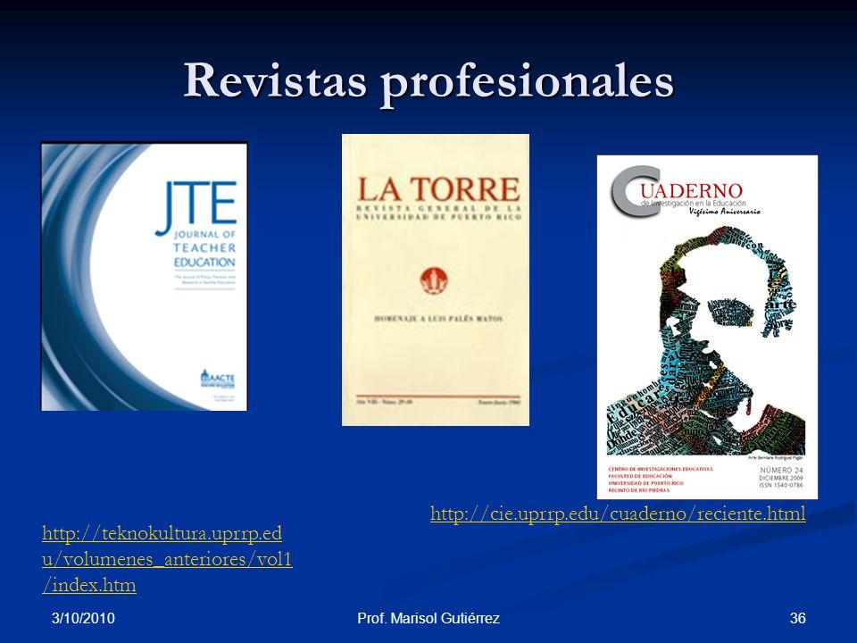 Revistas profesionales