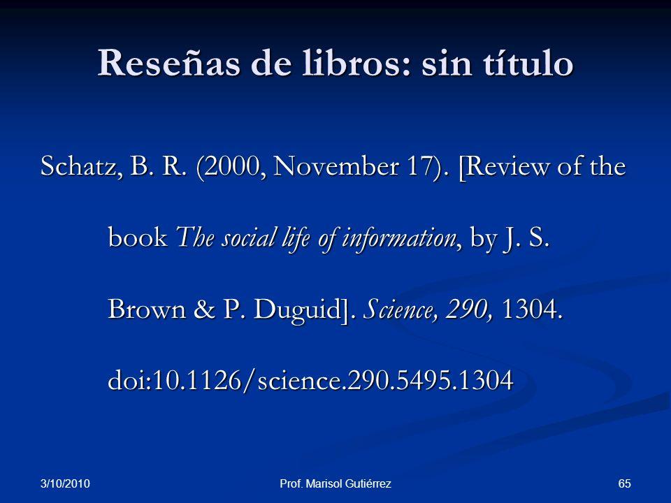 Reseñas de libros: sin título