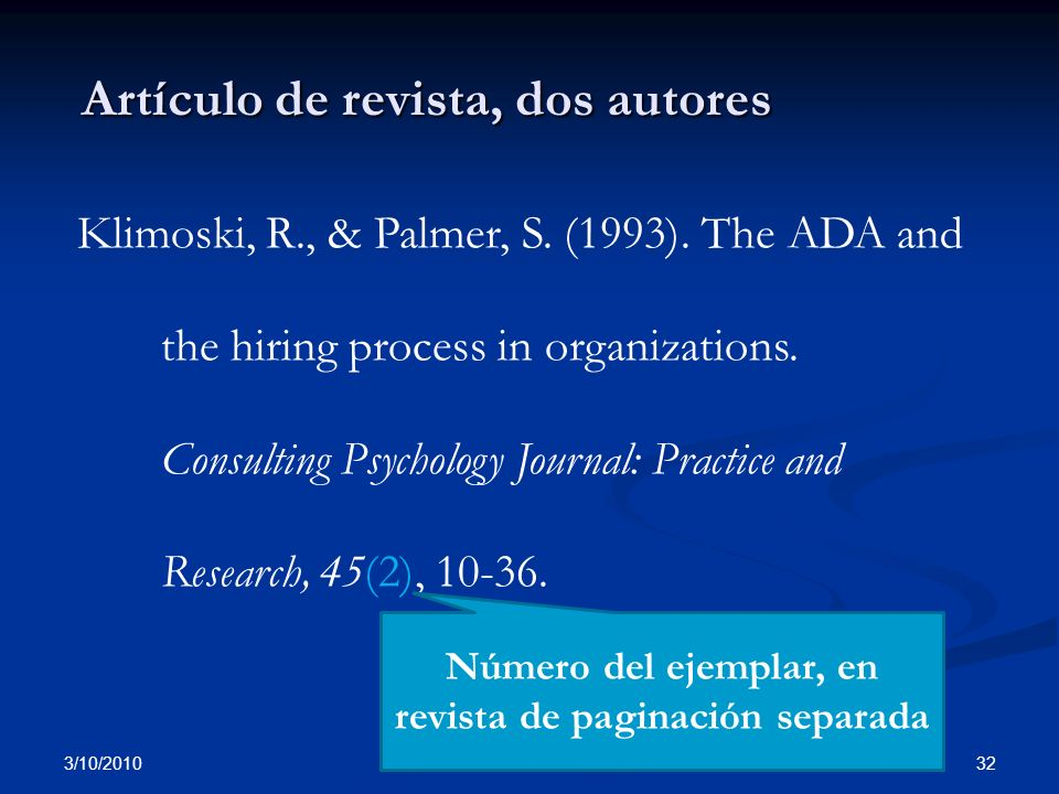 Artículo de revista, dos autores