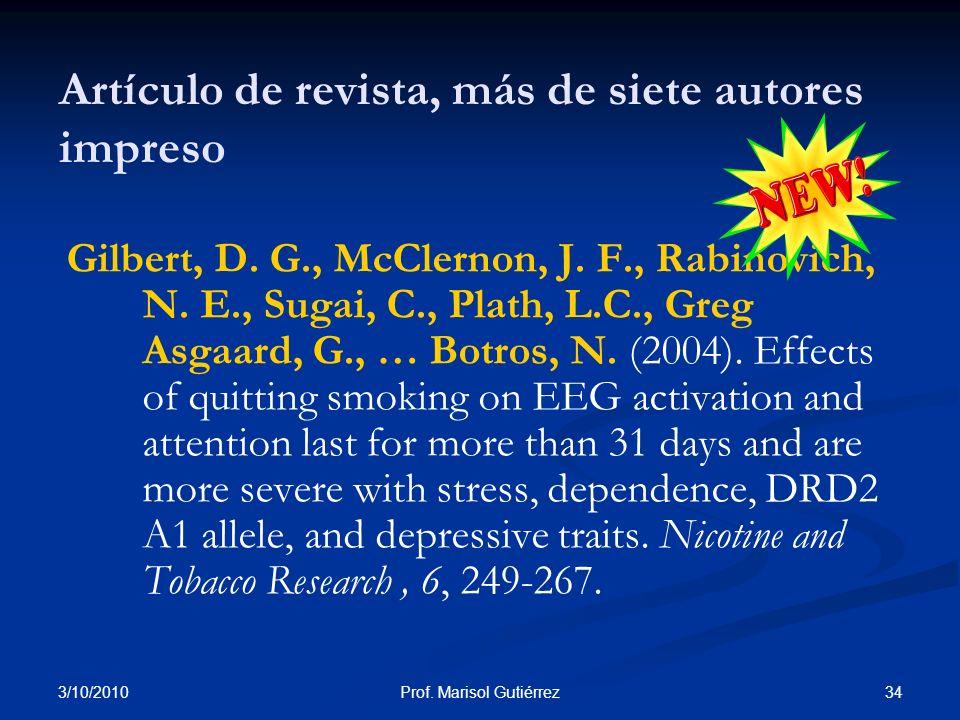 Artículo de revista, más de siete autores impreso