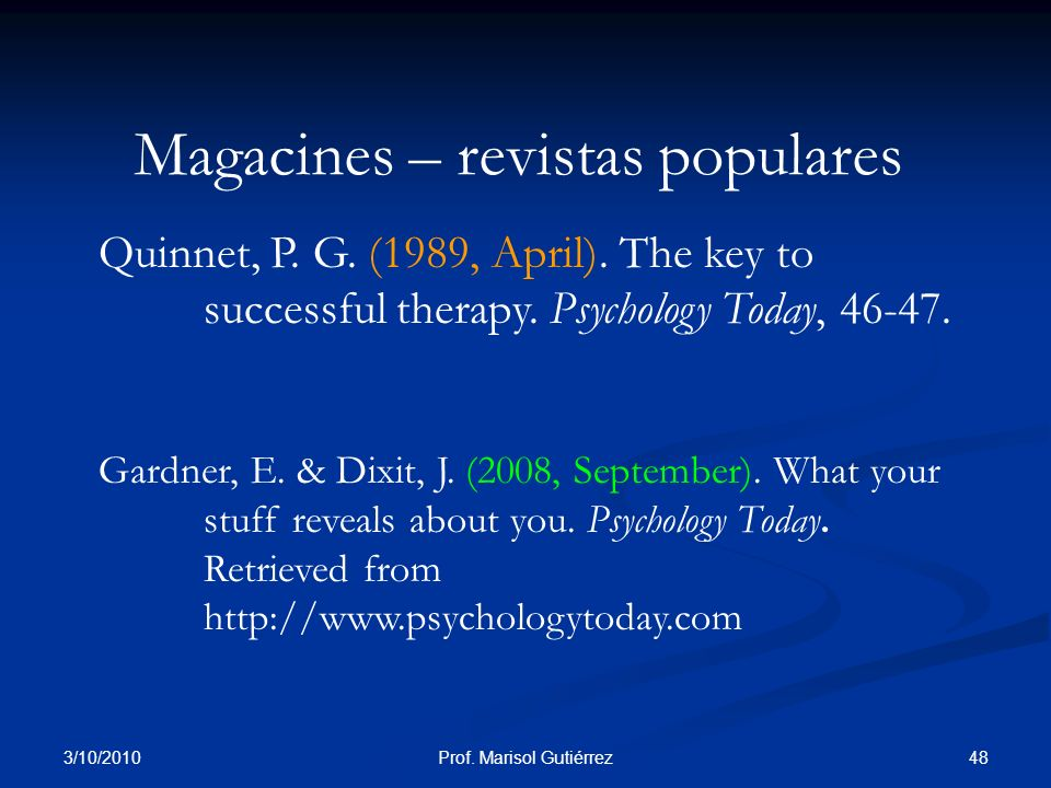 Magacines – revistas populares