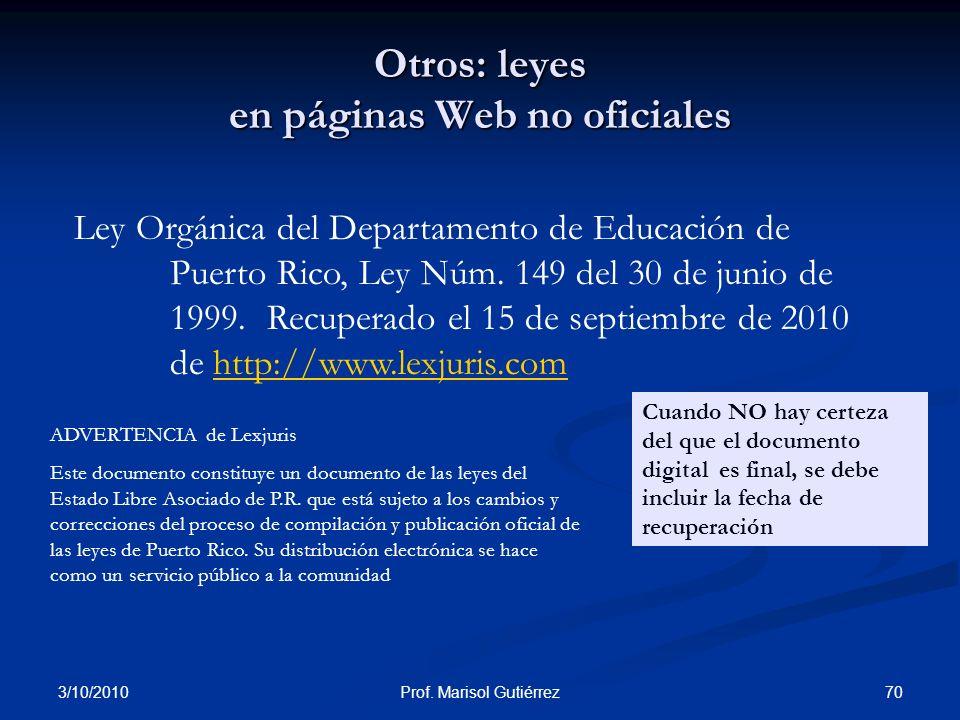 Otros: leyes en páginas Web no oficiales