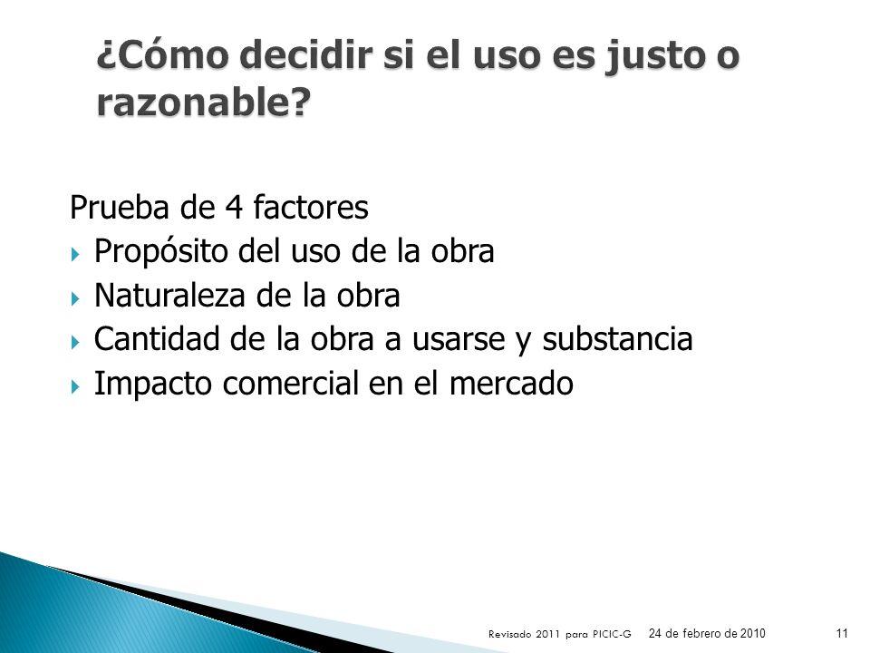 ¿Cómo decidir si el uso es justo o razonable