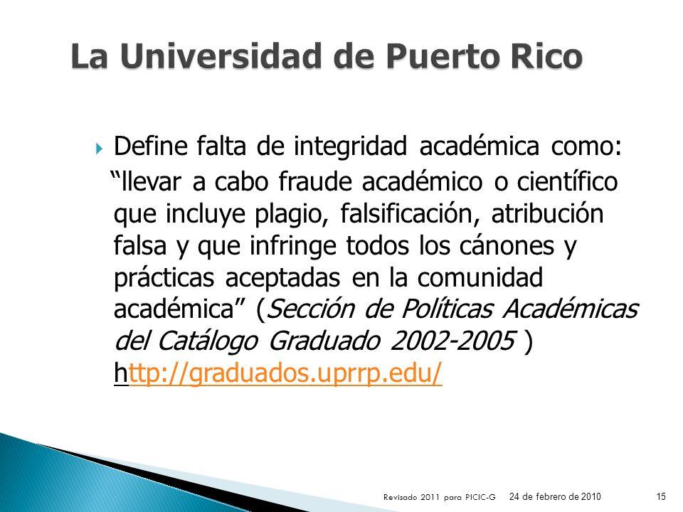 La Universidad de Puerto Rico