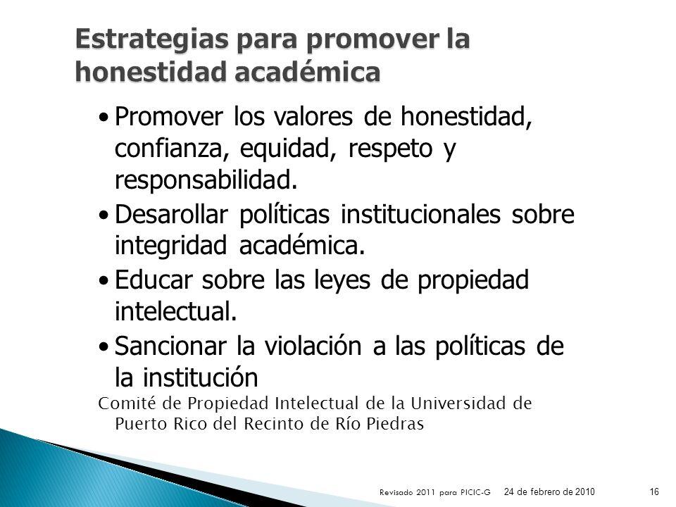 Estrategias para promover la honestidad académica