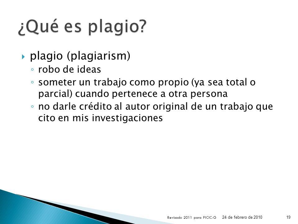 ¿Qué es plagio plagio (plagiarism) robo de ideas