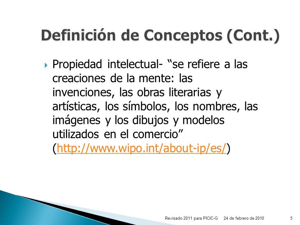 Definición de Conceptos (Cont.)