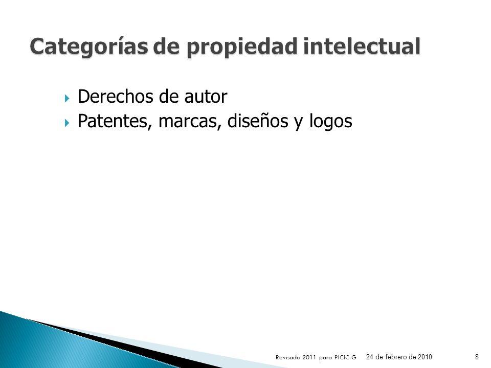 Categorías de propiedad intelectual
