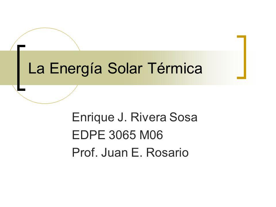 La Energía Solar Térmica