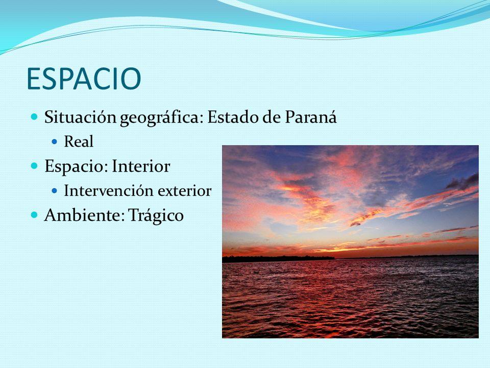 ESPACIO Situación geográfica: Estado de Paraná Espacio: Interior