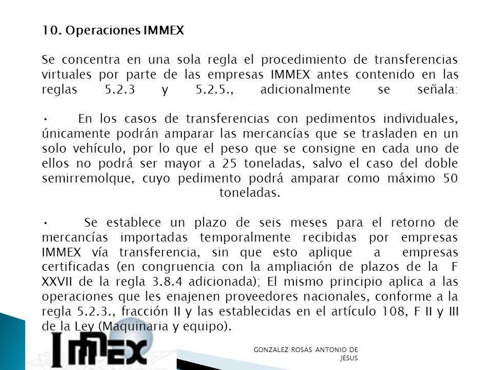 10. Operaciones IMMEX
