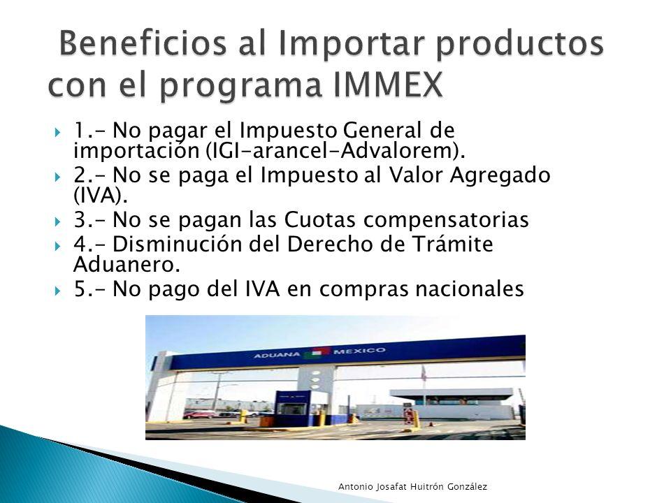 Beneficios al Importar productos con el programa IMMEX
