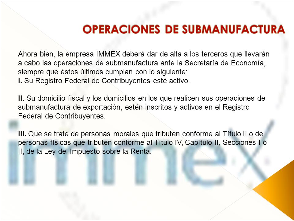 OPERACIONES DE SUBMANUFACTURA