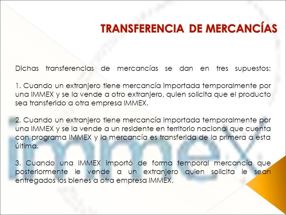 TRANSFERENCIA DE MERCANCÍAS