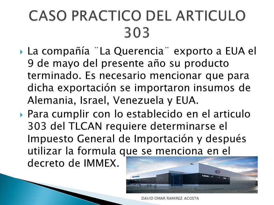 CASO PRACTICO DEL ARTICULO 303