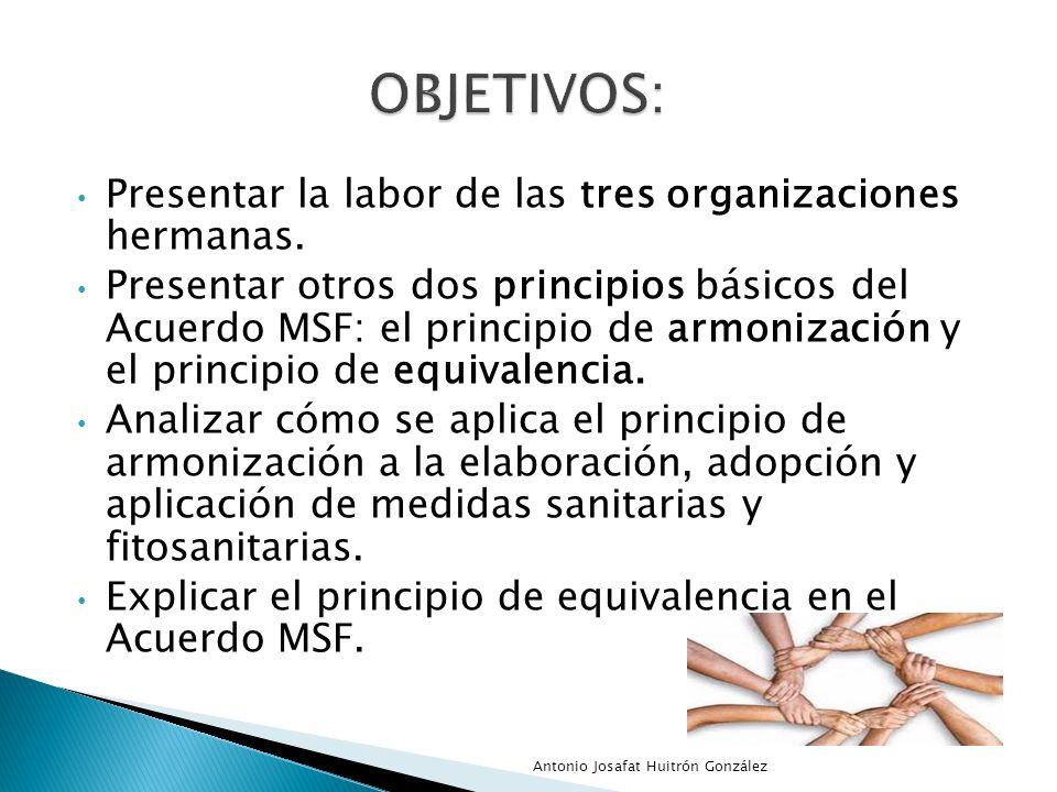 OBJETIVOS: Presentar la labor de las tres organizaciones hermanas.