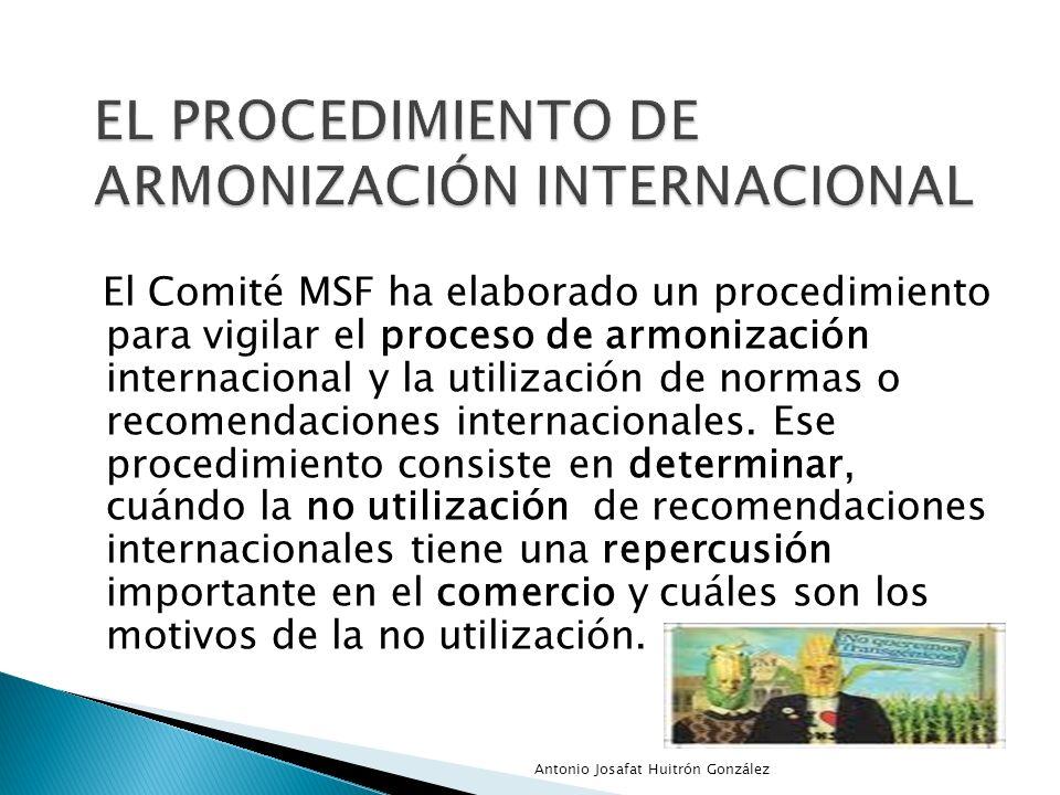 el procedimiento de armonización internacional