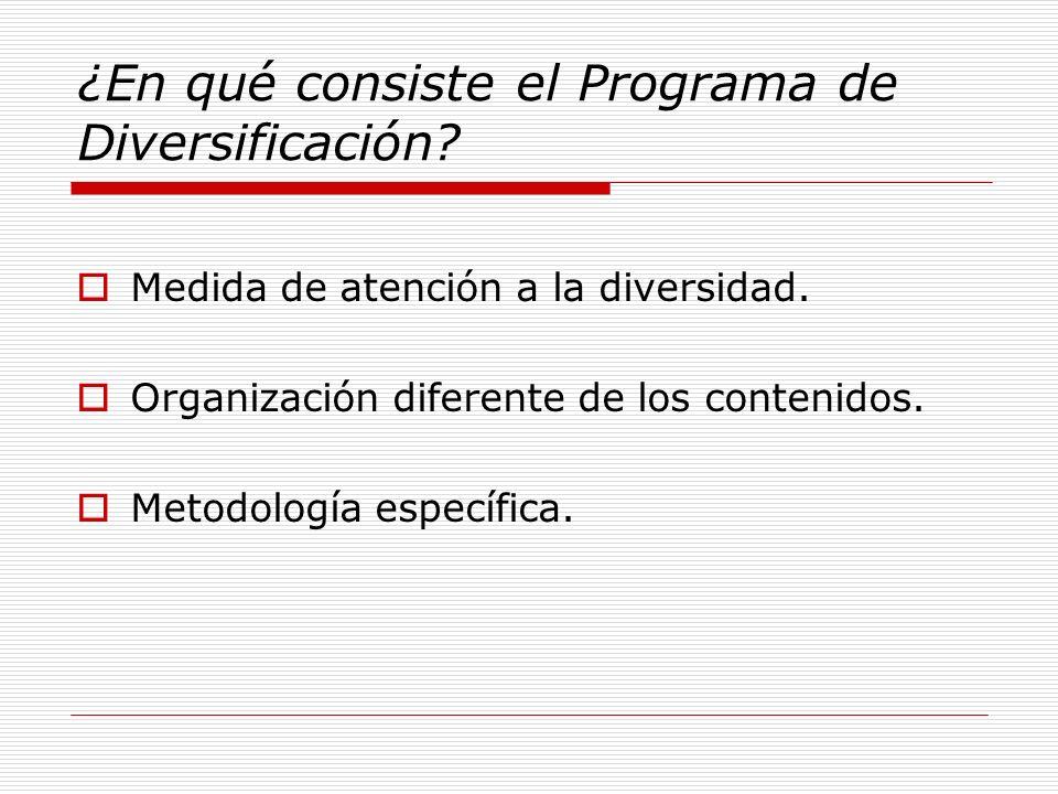 ¿En qué consiste el Programa de Diversificación