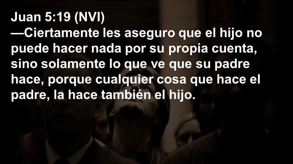 Juan 5:19 (NVI)